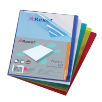 REXEL NYREX ASSORTED A4 CUT BACK FOLDERS 120 MICRONS - PACK OF 25