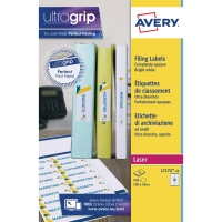 AVERY BINDER FILING LABELS 100MM X 30MM - BOX OF 25