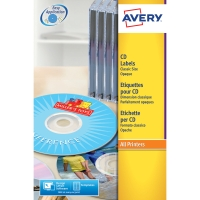 AVERY L6043-25 CLASSIC FACE CD LASER LABELS 117MM DIAMETER - PACK OF 25