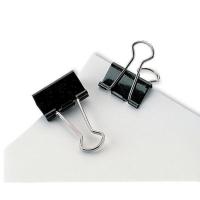 FOLD-BACK PAPER CLIPS BLACK 41MM - PACK OF 12