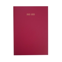LYRECO BURGUNDY A5 ACADEMIC DIARY - WEEK TO VIEW