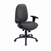 REI DELUXE HIGH BACK OPERATORS CHAIR WITH SYNCHRON - CHARCOAL