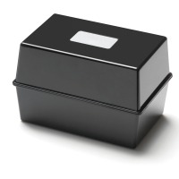 BLACK 152 X 102MM CARD INDEX BOX