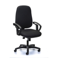 J962 SYNCHRONE CHAIR HIGH BACK BLACK - ARMS NOT INCLUDED