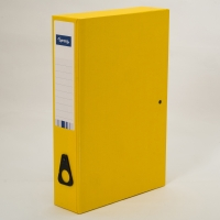 LYRECO YELLOW FOOLSCAP BOX FILE