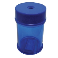 PLASTIC PENCIL SHARPENER SINGLE HOLE COLOURED BARREL