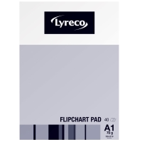 LYRECO A1 FLIPCHART PADS - PACK OF 5 (5 X 40 SHEETS)