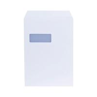LYRECO ENVELOPES C4 90 GRAM 100 PERCENT RECYCLED WINDOW WHITE - BOX OF 250