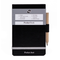 PUKKA POCKET NOTEBOOK 130 X 85 MM RULED SILVER / BLACK - PACK OF 6