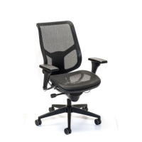 INTERSTUHL AIRSPACE 3632 MANAGEMENT MEDIUM HIGH BACK MESH CHAIR BLACK