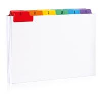 A-Z GUIDE CARDS 152 X 102MM - PACK OF 25