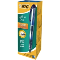 BIC DISPOSABLE FOUNTAIN PEN BLUE - BOX OF 12
