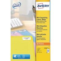 AVERY L7656-25 MINI LASER LABELS 46 X 11.1MM - BOX OF 25
