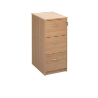 TRIOS WOODEN FILING CABINET 3 DRAWER BEECH