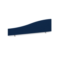 ROYAL BLUE DESK MOUNTED ACOUSTIC SCREEN 500/350 X 1400MM