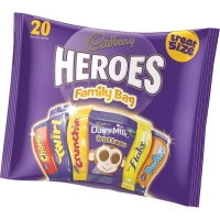Cadbury Heroes Family Bag - Pack Of 20 Treatsize Heroes