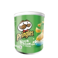 PRINGLES SOUR CREAM & ONION 40G TUB - PACK OF 12