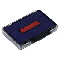 TRODAT 6/53/2 RUBBER  STAMP INK PAD BLUE / RED - PACK OF 2