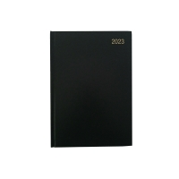 LYRECO A4 DESK DIARY BLACK - 2 PAGE A DAY