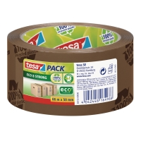 TESA ECO&STRONG PACKAGING TAPE BROWN PRINTED 50MMX66M