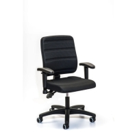 YOUROPE 4401 MEDIUM BACK OPERATORS CHAIR BLACK - ARMS NOT INCLUDED