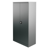 KONTRAX STATIONERY CUPBOARD 1.8M GREY