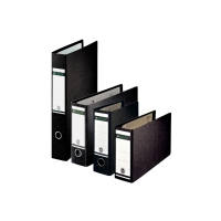 Leitz 180° Paper On Board A3 Oblong/Landscape Lever Arch File 80mm Spine Black