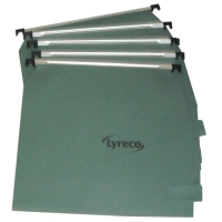 LYRECO GREEN 275MM LATERAL SUSPENSION FILES V BASE - BOX OF 50