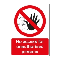 NO ADMITTANCE SIGN 150 X 200MM VINYL