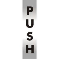 PUSH OFFICE SIGN 190 X 45MM