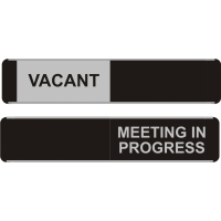 SLIDING DOOR SIGN VACANT / MEETING IN PROGRESS 52 X 255MM