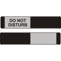 SLIDING DOOR SIGN DO NOT DISTURB / BLACK 52 X 255MM