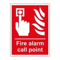 FIRE ALARM CALL POINT SIGN 150 X 200MM VINYL