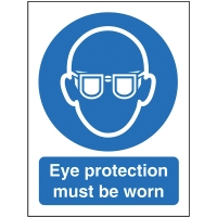 EYE PROTECTION SIGN 150 X 200MM VINYL