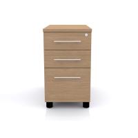 CLOUD BASE PEDESTAL 800MM DESK END OAK