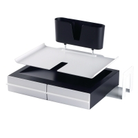 AVERY ADT2BW ALL IN ONE PRO DESKTOP ORGANISER BLACK/WHITE