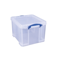 REALLY USEFUL BOX CLEAR 35 LITRE STORAGE BOX H310 X W390 X D480MM