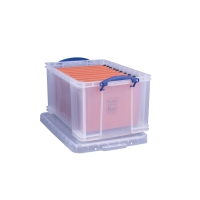 REALLY USEFUL BOX CLEAR 48 LITRE STORAGE BOX H315 X W402 X D610MM