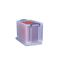 REALLY USEFUL BOX CLEAR 24 LITRE STORAGE BOX H290 X W270 X D465MM