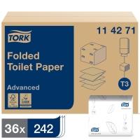 TORK T3 WHITE 2 PLY FOLDED TOILET PAPER - PACK OF 36