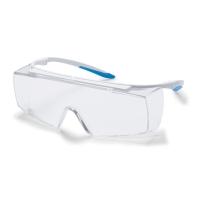 UVEX SUPER F OTG EYE PROTECTION CLEAR UV2-1-2 9169-500