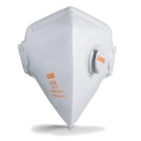 UVEX SILV-AIR C 3210 VERTICAL FLATFOLD RESPIRATOR MASKS WITH VALVE (BOX OF 15)