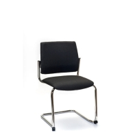 INTERSTUHL VISITOR CHAIR CANTILEVER FRAME BLACK