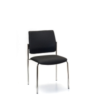 INTERSTUHL VISITOR CHAIR 4-LEGGED FRAME BLACK