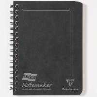 EUROPA NOTEMAKER NOTEBOOKS A6 BLACK - PACK OF 10