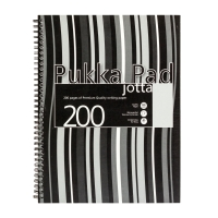 PUKKA JOTTA PAD A4 80G 200 PAGE BLACK - PACK OF 3