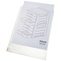 ESSELTE PREMIUM A3 TOP OPENING PORTRAIT PUNCHED POCKETS - PACK OF 50