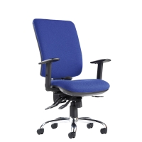 PLEXUS HIGH BACK CHAIR BLUE