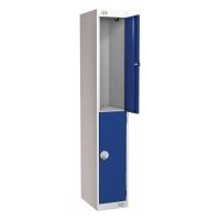 LOCKER 1800H x 300W x 300D, 2-DOOR, BLUE