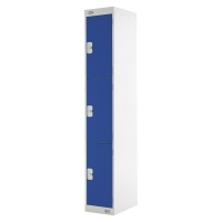 LOCKER 1800H x 300W x 300D, 3-DOOR, BLUE